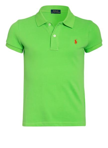 POLO RALPH LAUREN Piqué-Poloshirt, Farbe: NEONGRÜN (Bild 1)