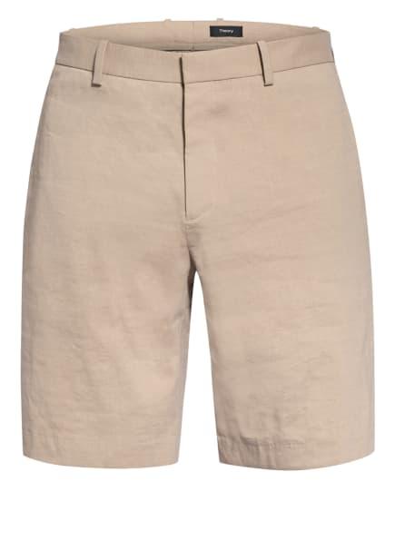 Theory Chino-Shorts Regular Fit mit Leinen, Farbe: BEIGE (Bild 1)