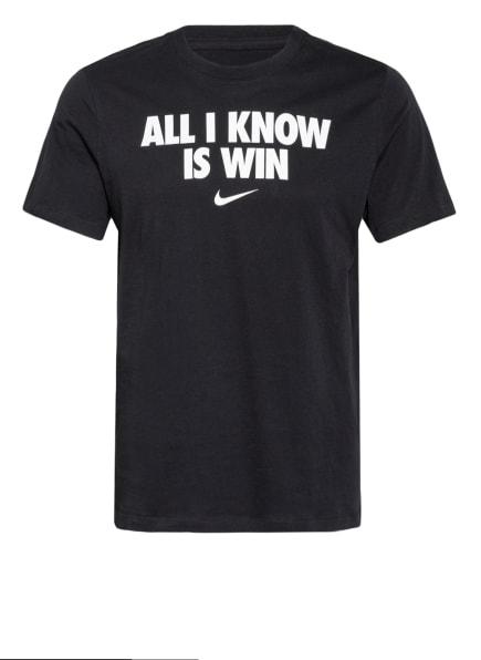 Nike T-Shirt ALL I KNOW IS WIN, Farbe: SCHWARZ (Bild 1)