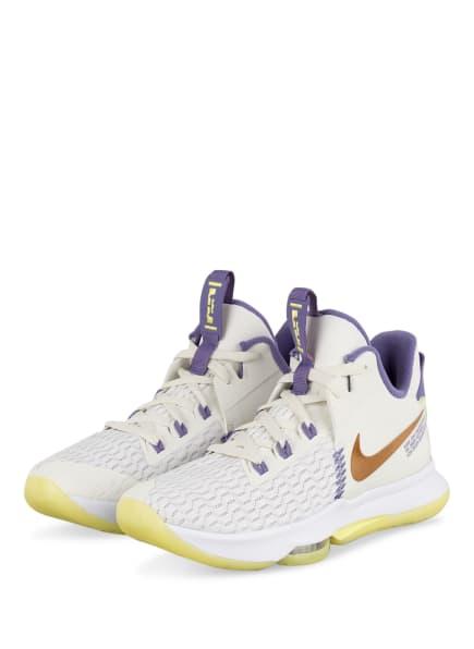 Nike Basketballschuhe LEBRON WITNESS 5, Farbe: WEISS/ LILA (Bild 1)