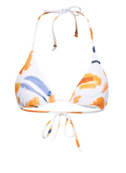 SEAFOLLY Triangel-Bikini-Top SUMMER MEMOIRS, Farbe: WEISS/ ORANGE/ BLAUGRAU (Bild 1)