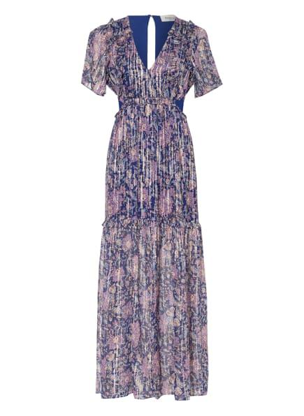 Berenice Kleid mit Glitzergarn und Cut-outs, Farbe: BLAU/ ROSA/ GOLD (Bild 1)