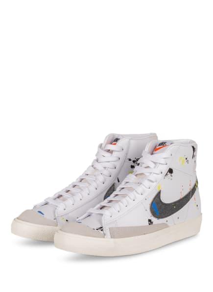 Nike Hightop-Sneaker BLAZER MID '77, Farbe: WEISS/ BLAU/ DUNKELGELB (Bild 1)