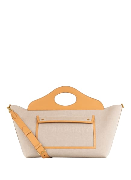 BURBERRY Handtasche POCKET MEDIUM, Farbe: BEIGE/ HELLBRAUN (Bild 1)