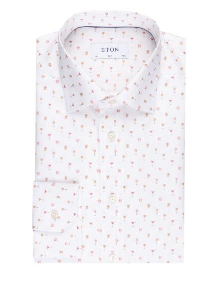 ETON Hemd Slim Fit, Farbe: WEISS/ GRAU/ HELLROT (Bild 1)