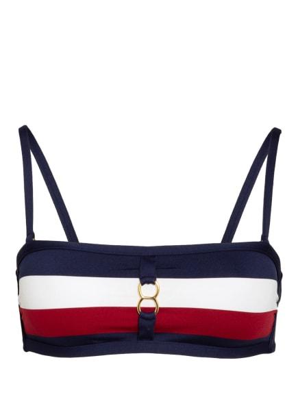 ANDRES SARDA Bandeau-Bikini-Top MEGAN, Farbe: DUNKELROT/ WEISS/ DUNKELBLAU (Bild 1)