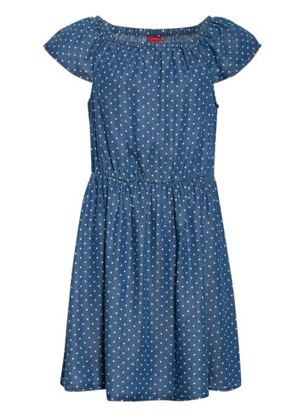 s.Oliver RED Off-Shoulder-Kleid, Farbe: BLAU/ WEISS (Bild 1)