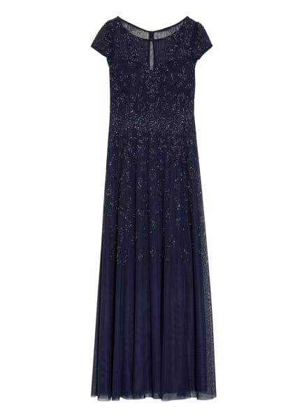 Vera Mont Abendkleid mit Perlen- und Paillettenbesatz, Farbe: DUNKELBLAU (Bild 1)