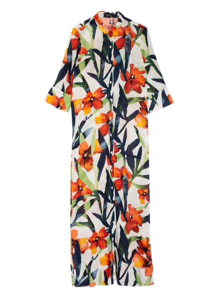 LENNY NIEMEYER Hemdblusenkleid, Farbe: CREME/ ORANGE/ DUNKELBLAU (Bild 1)