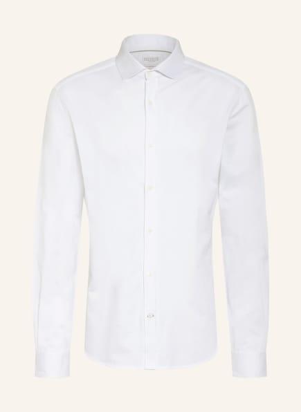 BRUNELLO CUCINELLI Jerseyhemd Leisure Fit, Farbe: WEISS (Bild 1)