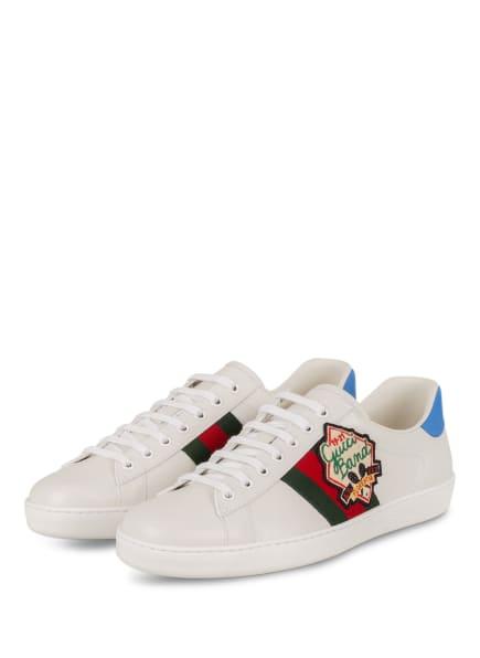 GUCCI Sneaker, Farbe: 9065 BIANCO/VRV/BR.SPLASH (Bild 1)