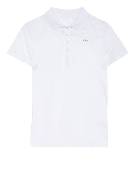 RÖHNISCH Funktions-Poloshirt MIKO mit Mesh-Einsatz, Farbe: WEISS (Bild 1)