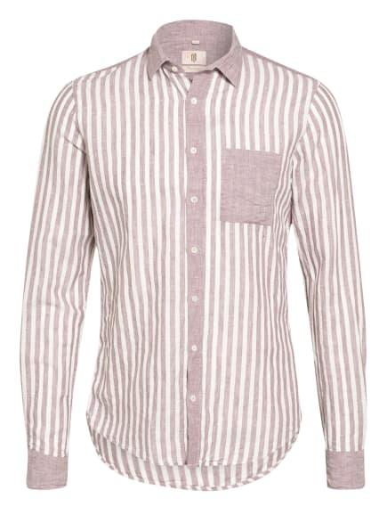 Q1 Manufaktur Hemd Slim Fit mit Leinen, Farbe: FUCHSIA/ WEISS (Bild 1)
