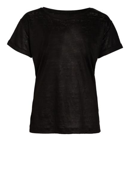 ZAÍDA T-Shirt aus Leinen, Farbe: SCHWARZ (Bild 1)