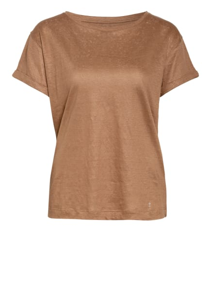 ZAÍDA T-Shirt aus Leinen, Farbe: HELLBRAUN (Bild 1)