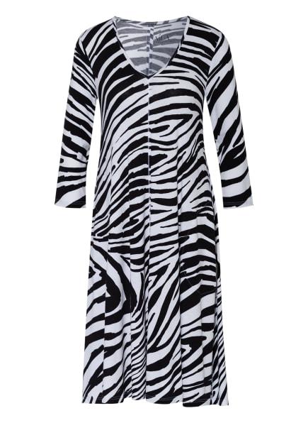 ZAÍDA Kleid mit 3/4-Arm, Farbe: WEISS/ SCHWARZ (Bild 1)