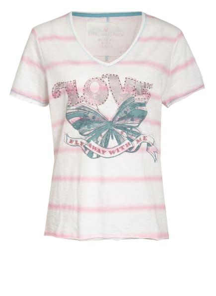 LIEBLINGSSTÜCK T-Shirt MAILAL, Farbe: WEISS/ ROSA/ PETROL (Bild 1)