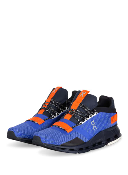 On Running Sneaker CLOUDNOVA, Farbe: BLAU/ SCHWARZ/ ORANGE (Bild 1)
