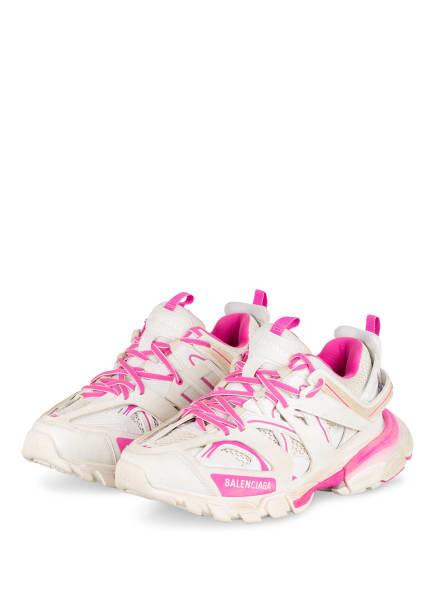 BALENCIAGA Plateau-Sneaker TRACK, Farbe: WEISS/ PINK (Bild 1)