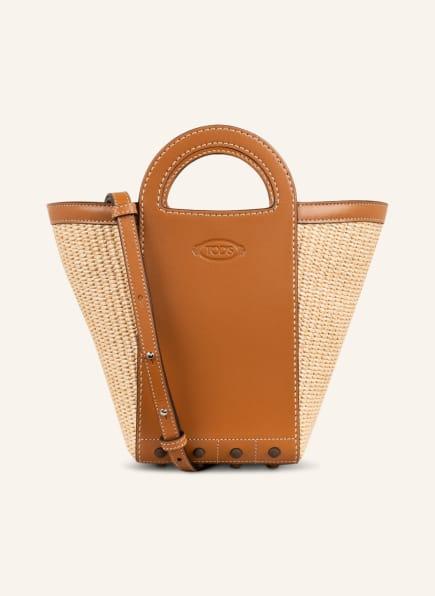 TOD'S Handtasche GOMMINO MINI, Farbe: COGNAC/ CREME (Bild 1)