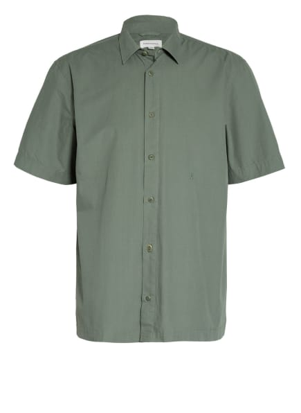 ARMEDANGELS Kurzarm-Hemd CAAMI Regular Fit, Farbe: GRÜN (Bild 1)