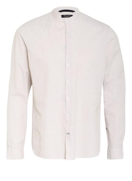 MAERZ MUENCHEN Hemd Regular Fit mit Leinen mit Stehkragen, Farbe: BEIGE/ CREME (Bild 1)