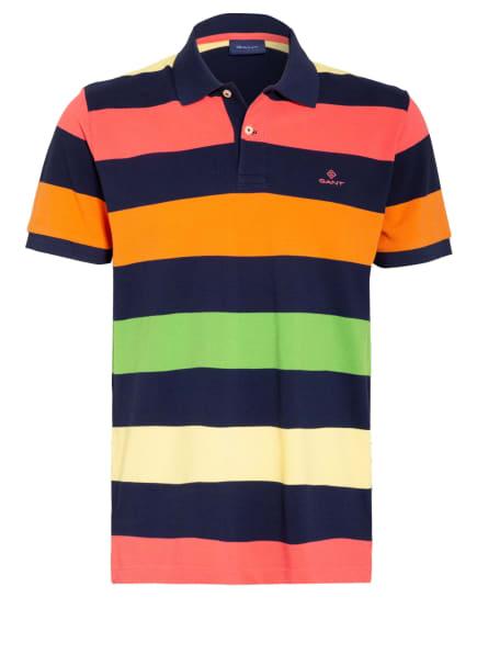 GANT Piqué-Poloshirt, Farbe: DUNKELBLAU/ GELB/ HELLROT (Bild 1)