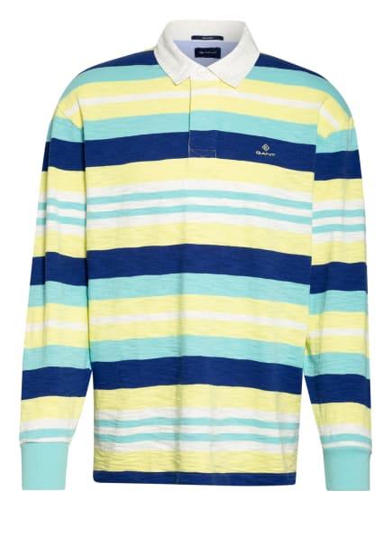 GANT Jersey-Poloshirt HEAVY RUGGER, Farbe: DUNKELBLAU/ WEISS/ GELB (Bild 1)