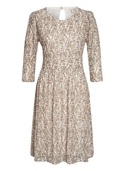 FREEQUENT Kleid FQGAMA mit 3/4-Arm, Farbe: WEISS/ HELLBRAUN (Bild 1)