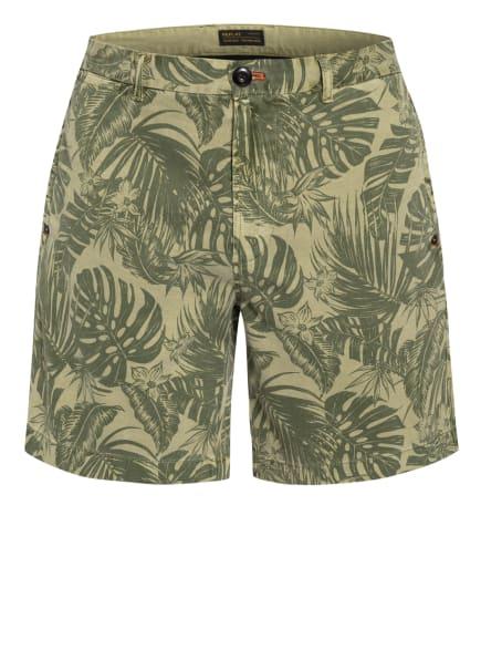 REPLAY Shorts , Farbe: OLIV/ BEIGE (Bild 1)