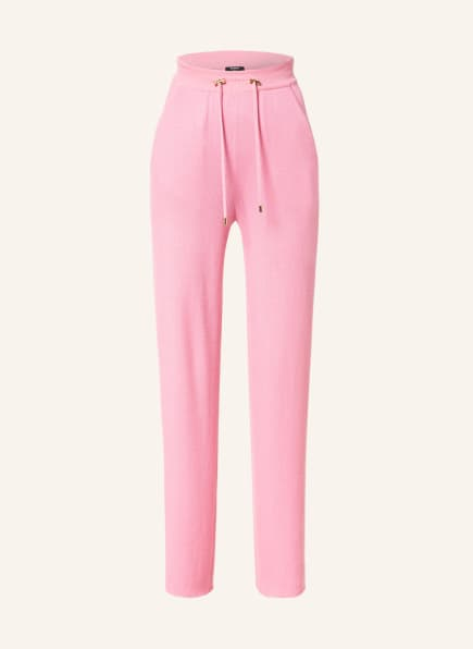 BALMAIN Strickhose aus Cashmere mit Seide, Farbe: ROSA (Bild 1)
