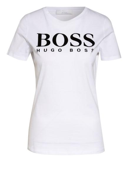 BOSS T-Shirt ELOGO, Farbe: WEISS/ SCHWARZ (Bild 1)