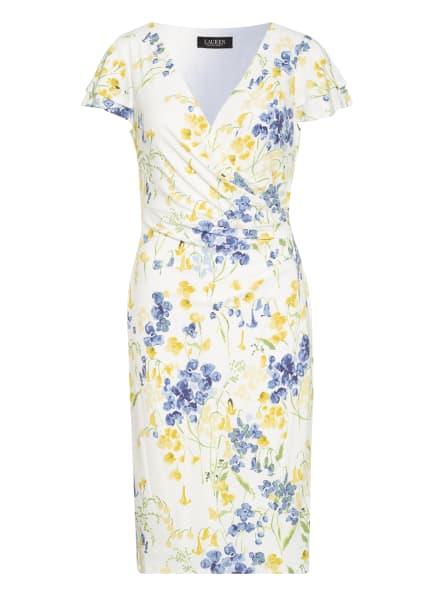 LAUREN RALPH LAUREN Jerseykleid, Farbe: WEISS/ BLAU/ GELB (Bild 1)