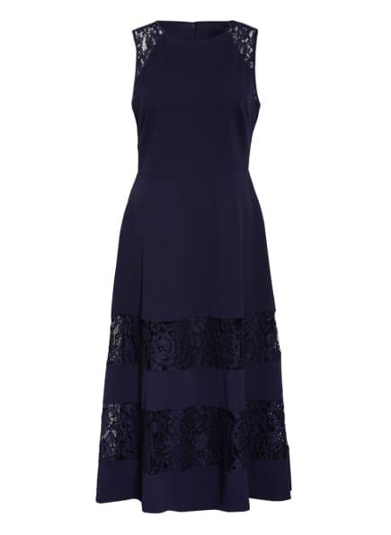 LAUREN RALPH LAUREN Kleid RENAE mit Spitzeneinsatz, Farbe: DUNKELBLAU (Bild 1)