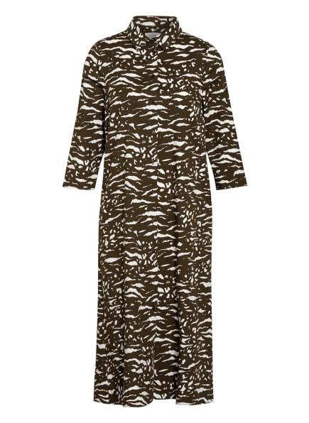 ROBE LÉGÈRE Hemdblusenkleid mit 3/4-Arm, Farbe: KHAKI/ WEISS (Bild 1)