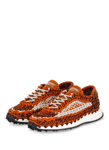 VALENTINO GARAVANI Sneaker CROCHET, Farbe: DUNKELORANGE/ WEISS/ DUNKELROT (Bild 1)