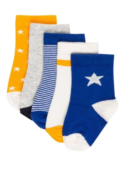 PETIT BATEAU 5er-Pack Socken, Farbe: BLAU/ WEISS (Bild 1)