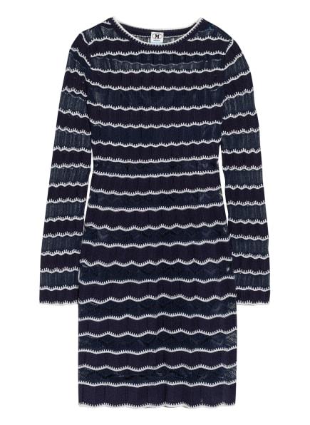 M MISSONI Kleid mit Spitzenbesatz, Farbe: DUNKELBLAU/ WEISS (Bild 1)