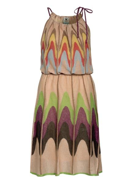 M MISSONI Strickkleid mit Glitzergarn, Farbe: NUDE/ GRÜN/ LILA (Bild 1)