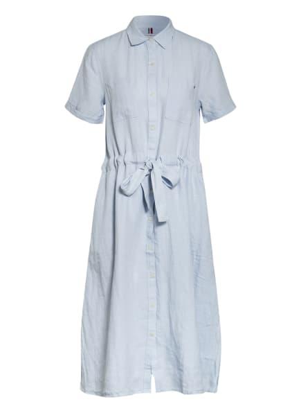 TOMMY HILFIGER Hemdblusenkleid aus Leinen, Farbe: HELLBLAU (Bild 1)
