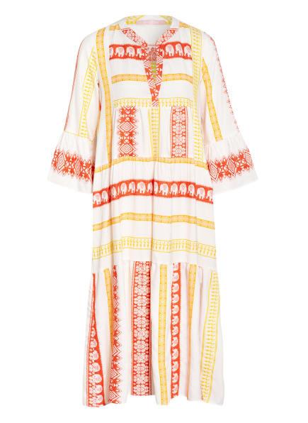 VALÉRIE KHALFON Kleid BONITA, Farbe: WEISS/ DUNKELORANGE/ GELB (Bild 1)