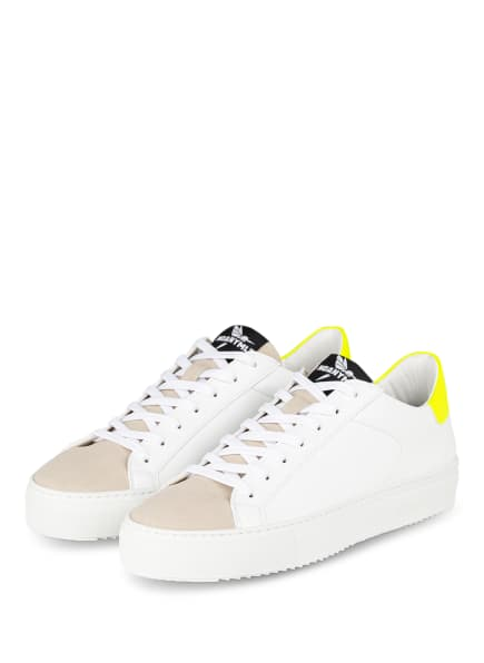 NOANYMLZ Sneaker LEVEL O2, Farbe: WEISS/ BEIGE/ GELB (Bild 1)