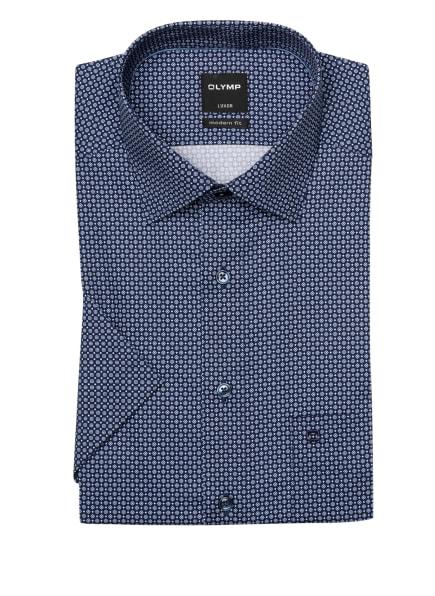 OLYMP Kurzarm-Hemd Luxor modern fit, Farbe: DUNKELBLAU/ HELLBLAU (Bild 1)
