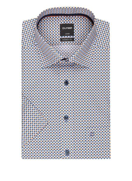 OLYMP Kurzarm-Hemd Luxor modern fit, Farbe: BLAU/ HELLBLAU/ ORANGE (Bild 1)