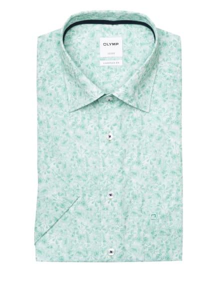 OLYMP Kurzarm-Hemd Luxor comfort fit, Farbe: GRÜN/ WEISS (Bild 1)