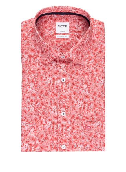 OLYMP Kurzarm-Hemd Luxor comfort fit, Farbe: WEISS/ ROT (Bild 1)