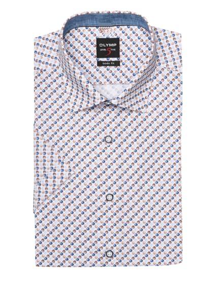 OLYMP Kurzarm-Hemd Level Five body fit, Farbe: WEISS/ BRAUN/ BLAU (Bild 1)