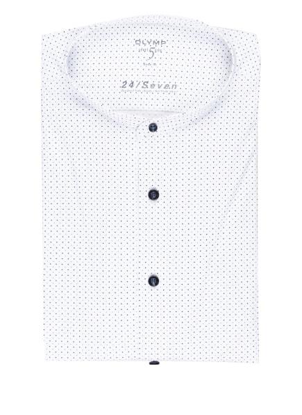OLYMP Jerseyhemd Level Five 24/7 body fit mit Stehkragen, Farbe: WEISS/ HELLBLAU/ DUNKELBLAU (Bild 1)