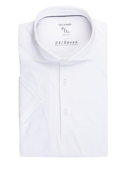 OLYMP Jersey-Poloshirt No. Six 24/7 super slim fit, Farbe: WEISS (Bild 1)