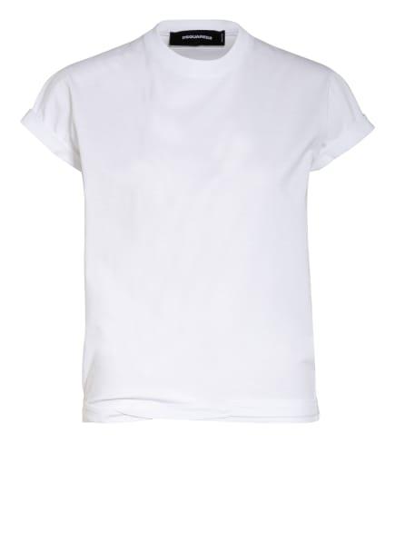 DSQUARED2 Cropped-Shirt, Farbe: WEISS/ SCHWARZ (Bild 1)